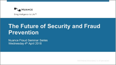 Future of security and fraud prevention